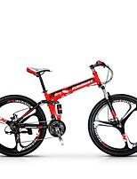 Bicicleta de Montaña Ciclismo 21 Velocidad 26 pulgadas/700CC SHIMANO EF-51-8 Disco de Freno Horquilla de suspención Cuadro de Acero Carbón