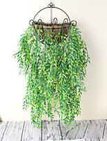 The New Wicker Wall Hang Simulated Plant Artificial Flower Hanging Basket Living Room Indoor Bamboo Willow Wall Hang
