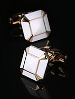 Argola Prendedor de Gravada Clipe de gravata Moda Caixas de presente e Bolsas Botões de Punho Homens Masculino Dourado