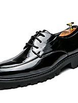 Men's Oxfords Formal Shoes Fall Winter Patent Leather Casual Outdoor Office & Career Party & Evening Black 1in-1 3/4in
