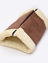 Cat Bed Pet Mats & Pads Solid Coffee