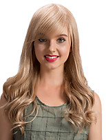 Prevailing  Ethereal  Oblique Fringe Long Wave  Human Hair Wigs