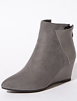 Women's Boots Fashion Boots Formal Shoes Winter Leatherette Dress Party & Evening Zipper Black Gray Ruby 2in-2 3/4in