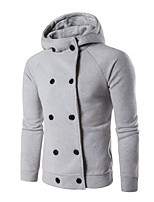Men's Casual/Daily Hoodie Solid Color Block Hooded Micro-elastic Cotton Sleeveless Fall