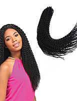 Tresses Twist JheriCurl Tissu bouclé Tresses au Crochet Île Twist Afro Cheveux 100 % Kanekalon Gris Blond de fraise Bourgogne Noir Brun
