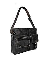 Unisex Bags All Seasons Cowhide Shoulder Bag with for Casual Office & Career Black