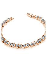Femme Bracelets Rigides Zircon cubique Bohême Plaqué or Forme de Cercle Bijoux Pour Soirée Quotidien Cérémonie Sortie