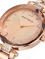 Mujer Reloj de Moda Reloj de Pulsera Reloj creativo único Reloj Casual Cuarzo Acero Inoxidable Banda Encanto De Lujo Elegantes Cool