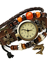 Women's Fashion Watch Bracelet Watch Quartz PU Band Brown