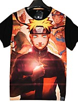 Inspirado por Naruto Fantasias Anime Fantasias de Cosplay Cosplay T-shirt Desenhos Animados Manga Curta Blusa Para Unisexo