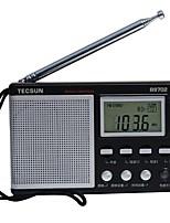 R-9702 Rádio portátil Radio FM Alto Falante Embutido Relogio Despertador Preto