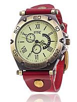 Муж. Модные часы Часы-браслет Уникальный творческий часы Повседневные часы Китайский Кварцевый Кожа Группа Винтаж Повседневная Элегантные