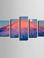Impresión de lienzo Cinco Paneles Lienzos Vertical Estampado Decoración de pared For Decoración hogareña