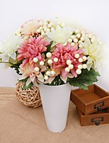 14inch Large Size 12 Heads  Silk Polyester Plants Tabletop Flower Artificial Flowers