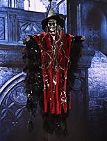 Хэллоуин реквизит участник бар ktv украшение голос активированный висит череп скелет призрак с светящиеся красные глаза и звуковые эффекты