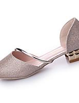 Для женщин На плокой подошве Удобная обувь Полиуретан Лето Для праздника Комбинация материалов На плоской подошве Золотой СеребряныйНа