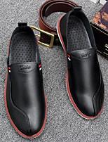Для мужчин Мокасины и Свитер Удобная обувь Полиуретан Лето Повседневные Черный Оранжевый На плоской подошве