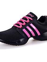 Для женщин Танцевальные кроссовки Тюль Кроссовки Для открытой площадки Плоские Розовый/черный 2,5 - 4,5 см Персонализируемая