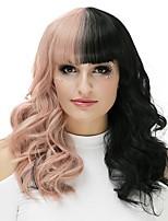 Femme Perruque Synthétique Sans bonnet Long Frisés Noir et Or Perruque Naturelle Perruque Halloween Perruque de fête Perruque de carnaval