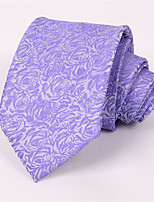 Men's Fashion Casual Business Purple Roses High-End Tie