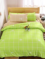 Luxury 4 Piece 4pcs (1 Duvet Cover, 1 Flat Sheet, 2 Shams)
