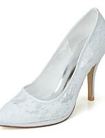 Для женщин Свадебная обувь Формальная обувь Весна Лето Сетка Свадьба Для вечеринки / ужина На шпильке Белый Черный Розовый 9,5 - 12 см