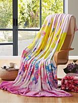Супер мягкий Цветочные/ботанический Полиэфир одеяла