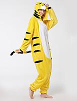 Kigurumi Pyjamas Tiger Gymnastikanzug/Einteiler Schuhe Fest/Feiertage Tiernachtwäsche Halloween Modisch Bestickt FlanellCosplay Kostüme