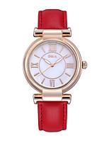 Жен. Модные часы Кварцевый Фосфоресцирующий PU Группа Белый Красный Оранжевый