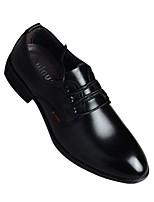 Для мужчин Туфли на шнуровке Удобная обувь Формальная обувь Полиуретан Лето Повседневные Белый Черный На плоской подошве