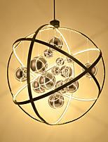 Chandelier nórdico sola cabeza creativa sala de estar restaurante luz café frente bar dúplex bombilla de cristal chandelier