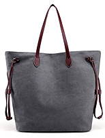 Women Bags All Seasons Canvas Shoulder Bag with for Casual Blue Gray Purple Coffee