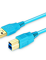 USB 3.0 Cable, USB 3.0 to USB 3.0 Tipo B Cable Macho - Macho 1,0 m (3 pies)