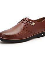 Men's Oxfords Comfort Leather Casual Office & Career Walking Light Brown Black