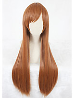 Long Straight The king's avatar Mucheng Su Wig Light Brown Synthetic Anime Cosplay Wigs CS-334A