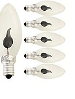 1.5W LED лампы в форме свечи 1 120 lm Красный 220 V 6 шт. E14