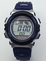 Hombre Reloj Deportivo Reloj de Pulsera Digital Calendario Resistente al Agua alarma Cronómetro Noctilucente Caucho Banda Cool Azul
