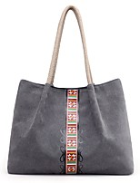 Women Bags All Seasons Canvas Shoulder Bag with for Casual Blue Beige Gray Coffee