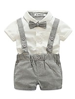 Boys' Solid Sets,Cotton Polyester Summer Short Pant Clothing Set