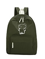 Women Backpack Canvas All Seasons Casual Sports Outdoor Office & Career Round Zipper Clover Blushing Pink Gray Black