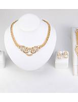 Damen Halskette Armband Ring Imitation Diamant Simple Style Klassisch Diamantimitate Kreisform FürHochzeit Party Geburtstag Verlobung