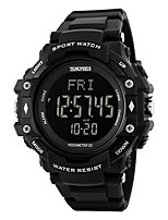 Men's Sport Watch Digital Watch Digital Calendar Water Resistant / Water Proof Pedometer Stopwatch PU Band Black