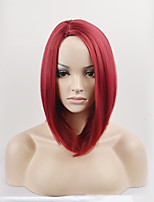 Fashion Straight Red Color Bobo Synthetic Wigs Cosplay Wigs For Women