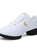 Для женщин Танцевальные кроссовки Сетка Кроссовки Для открытой площадки На толстом каблуке Белый Черный Красный 5 - 6,8 см