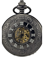 Men's Pocket Watch Automatic self-winding Alloy Band Vintage Black