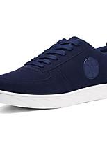 Men's Sneakers Comfort Spring Fall PU Casual Outdoor Lace-up Flat Heel Black Dark Blue Khaki Flat