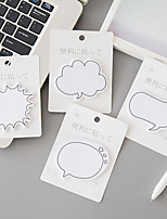 1 PC Dialogs Self-Stick Notes(Random Color)