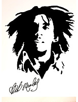 Bob Marley Jamaica Famous Singer Wall Stickers Bob Marley Music Character Figure Wall Decals Home Decor For Baby Kids Room Living Room