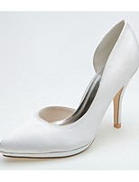 Femme Chaussures de mariage Chaussures formelles Printemps Eté Satin Mariage Soirée & Evénement Talon Aiguille Argent Ivoire 10 à 12 cm