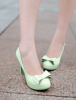 Women's Shoes Nubuck leather PU Spring Comfort Heels For Casual White Green Light Pink
